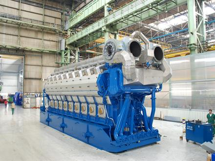Wärtsilä has generating sets with a unit power up to 19 MWe. The Wärtsilä 18V50DF shown in the photo is the ultimate 'fuel flexibility' engine and can be run on natural gas, light fuel oil (LFO) or heavy fuel oil (HFO).