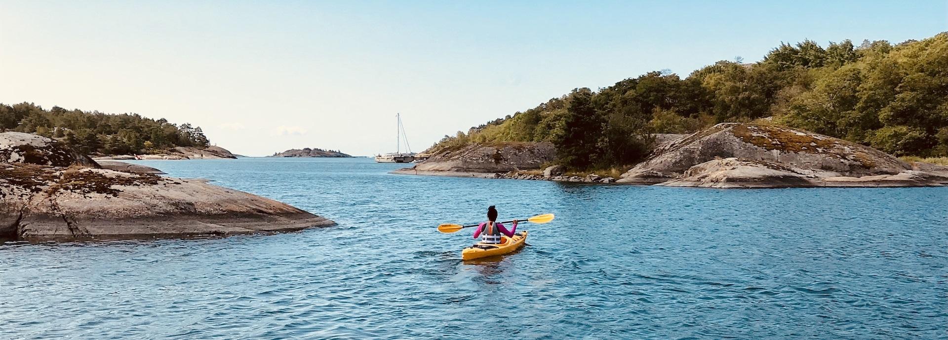 Marelly Lanza, kayaking