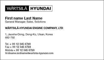 Wrtsil brand hub documents dual brand business cards reheart Images