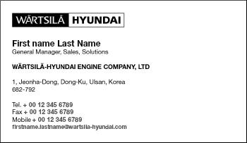Wrtsil brand hub documents dual brand business cards reheart Gallery