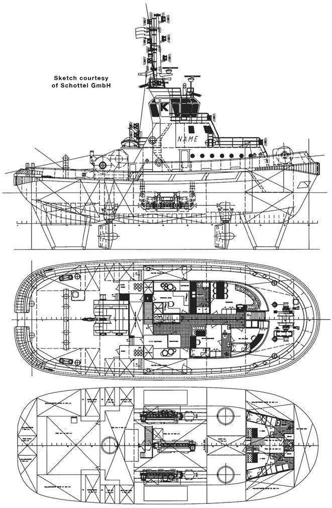Army Tug Engine Room: KOTUG Rotor Tug