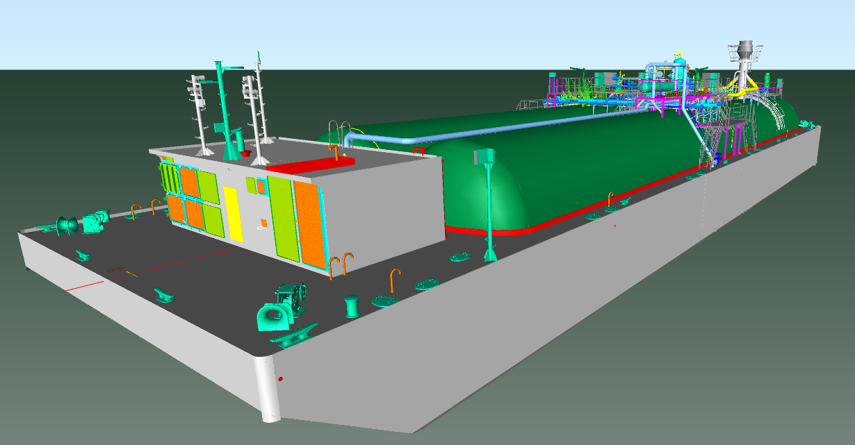 Cargo Handling System For Fully Pressurized Gas Carrier Piping Diagram Ship Lpg Barges