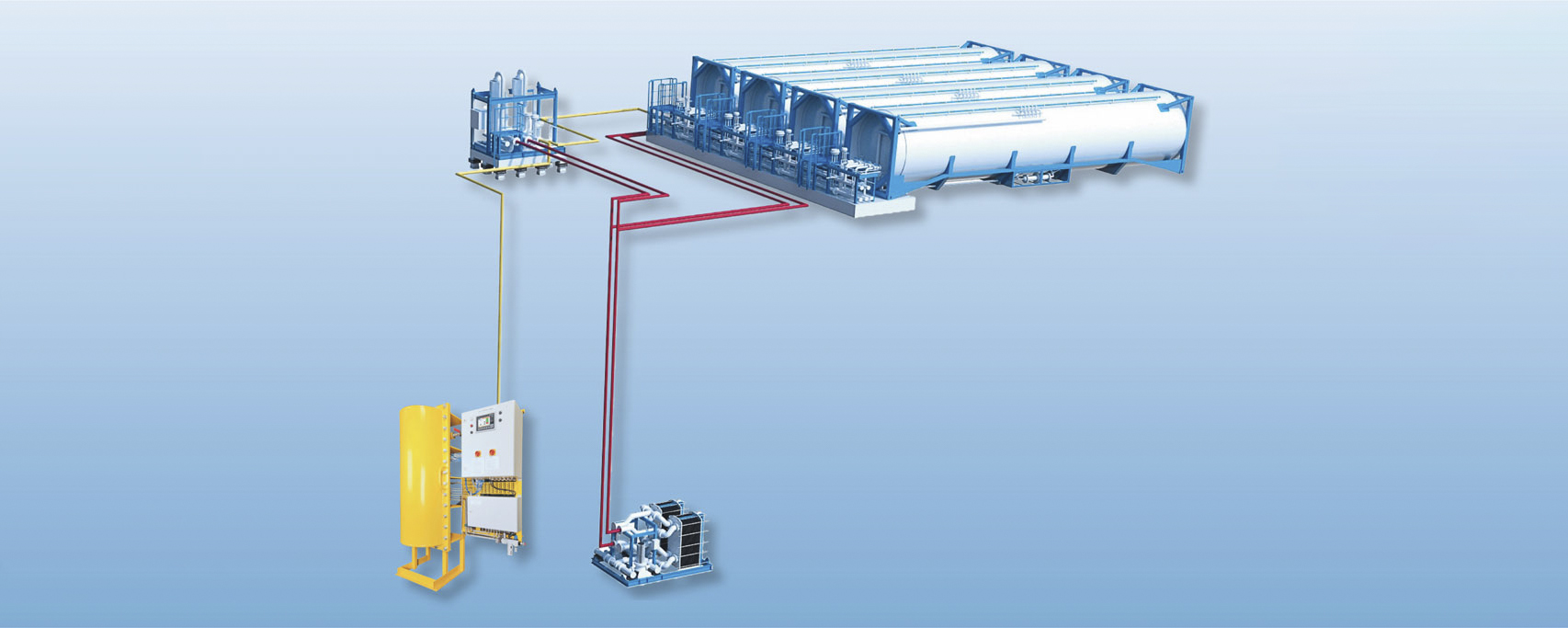 Increasing flexibility in LNG fuel handling master