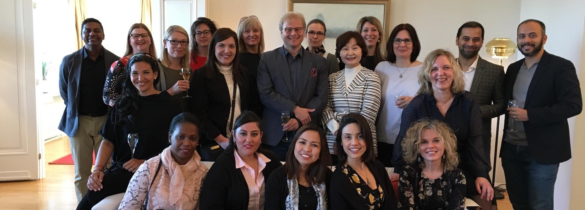The Wärtsilä Communications and Branding team at a rare in-person meeting in April 2018