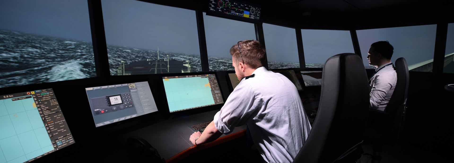 Solent University, ship simulation training
