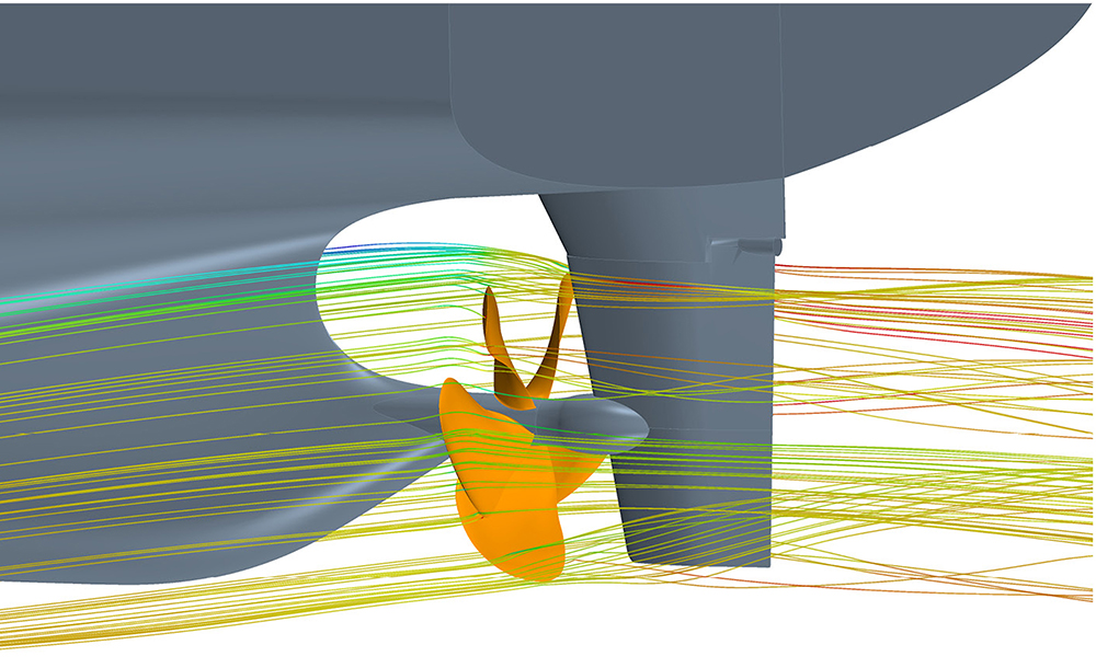 Optimum propeller design leads to higher ship efficiency