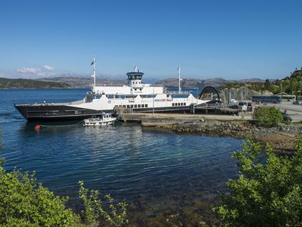 Folgefonn was built as a diesel-powered ferry in 1998 and retrofitted into a hybrid diesel electric vessel in 2014.