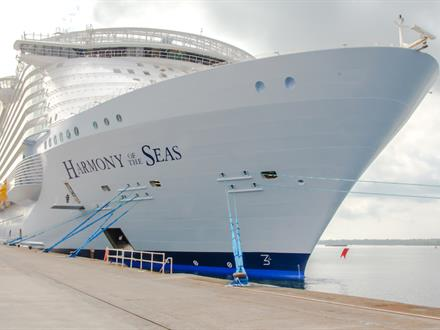 The technology on the Harmony of the Seas also includes the Wärtsilä Platinum Dynamic Positioning (DP) System