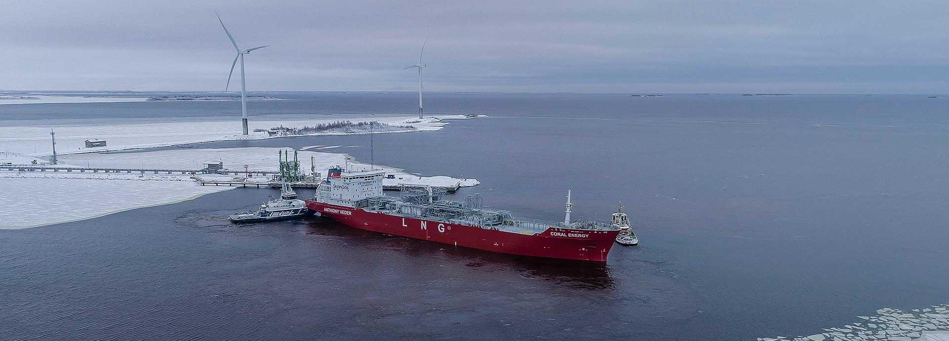 Tanker in Tornio